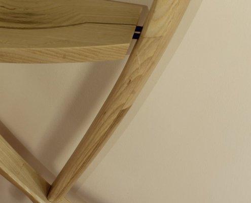 close up 2, custom shelf, bleached ash wood