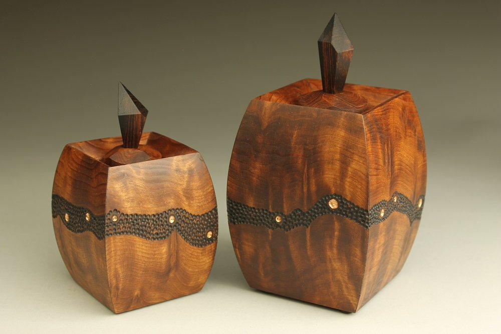 heirloom treasure box, 2 tryptych boxes