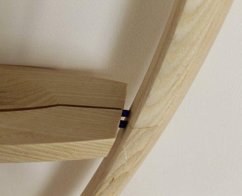custom shelf, bleached ash wood, close up 3