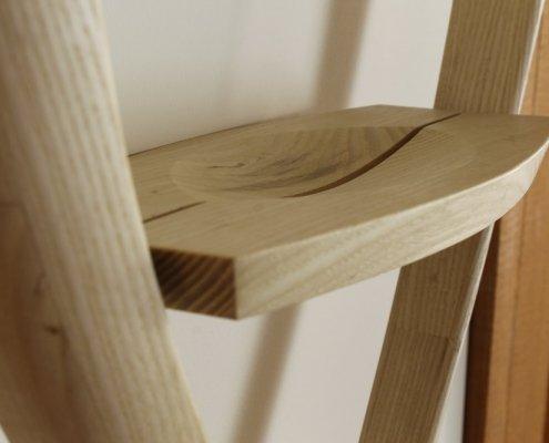 close up shelf, custom shelf, bleached ash wood