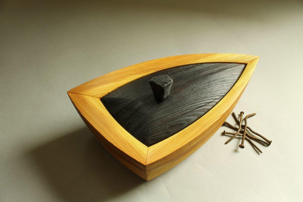 heirloom treasure box, triad box with lid