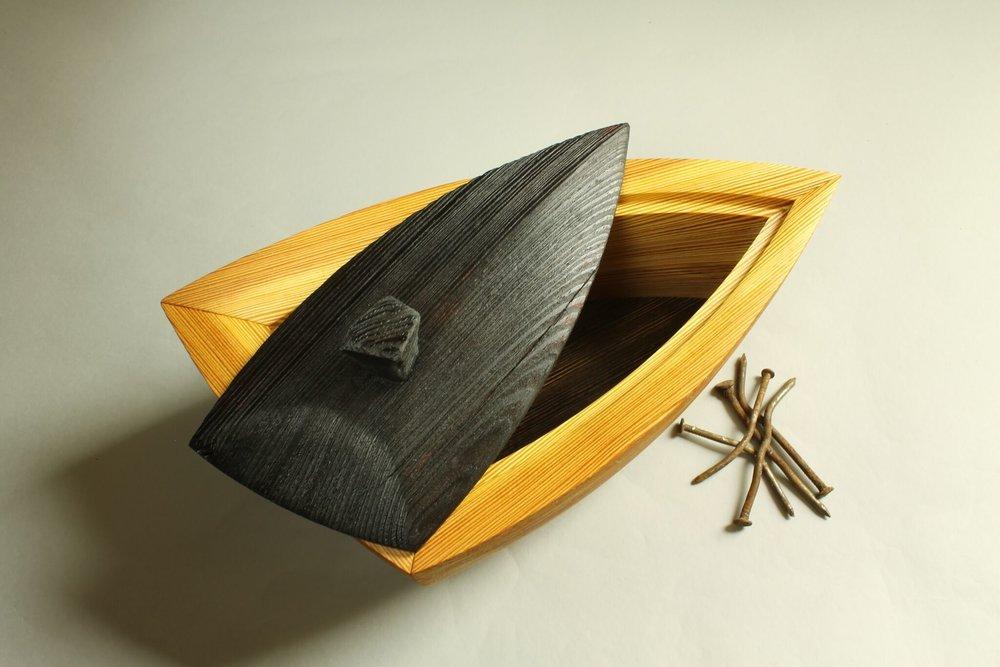 heirloom treasure box, triad box lid askew