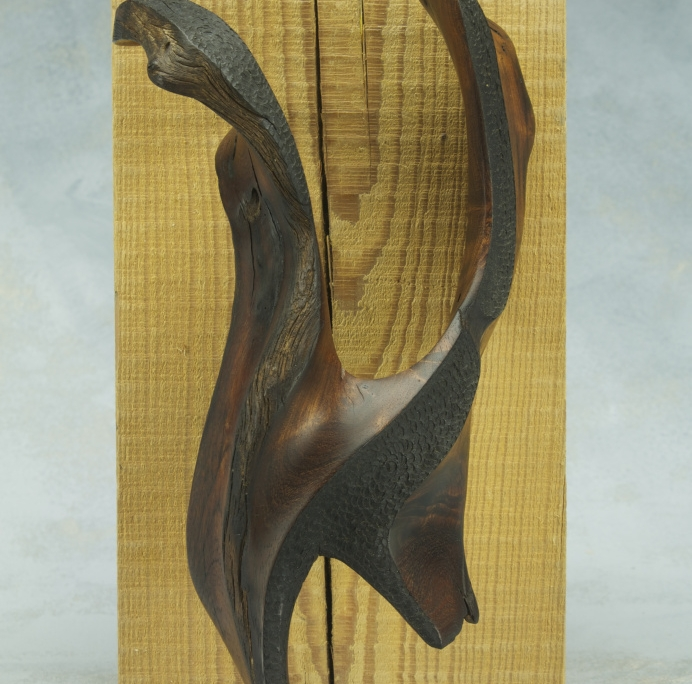 sculpture made of mesquite wood