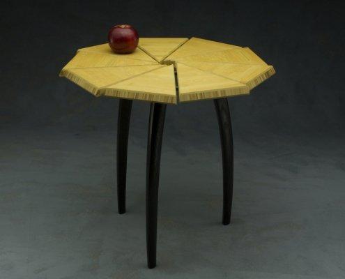 custom table made from bamboo and ebonized ash custom fine furniture