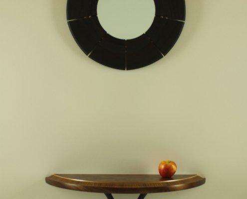 custom wall mirror, sycamore wood