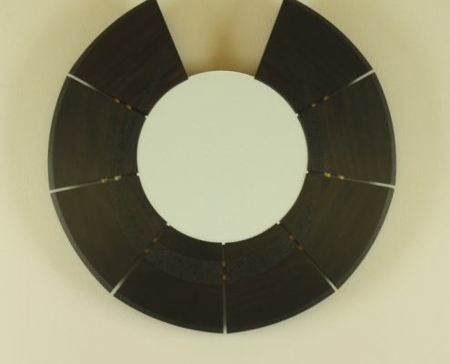 custom wall mirror, sycamore wood 2