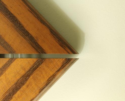 close up, custom mirror, solid wood edging