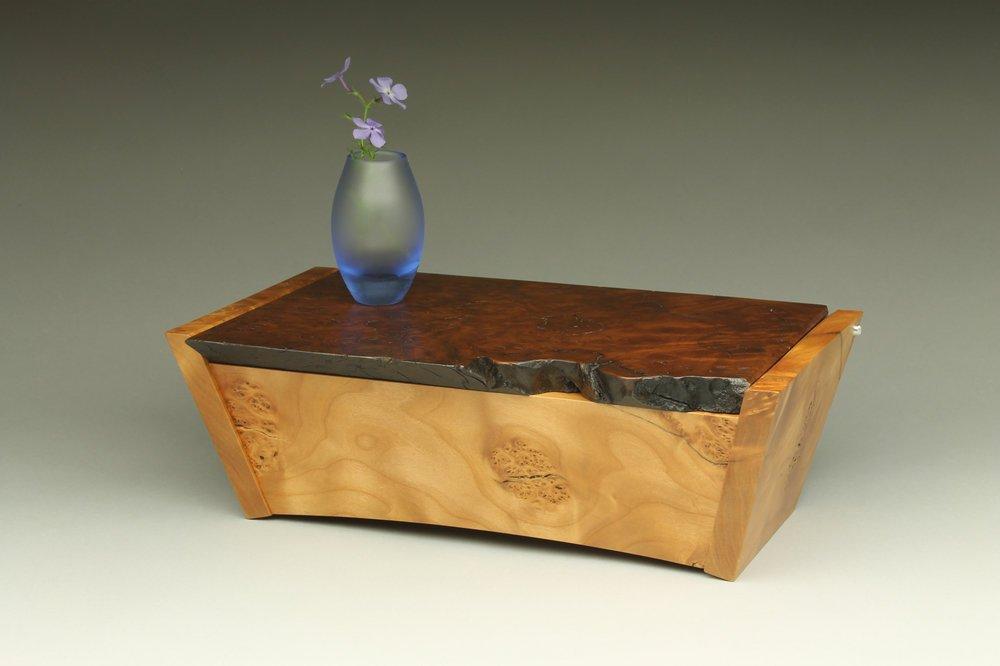 heirloom treasure box, live edge box