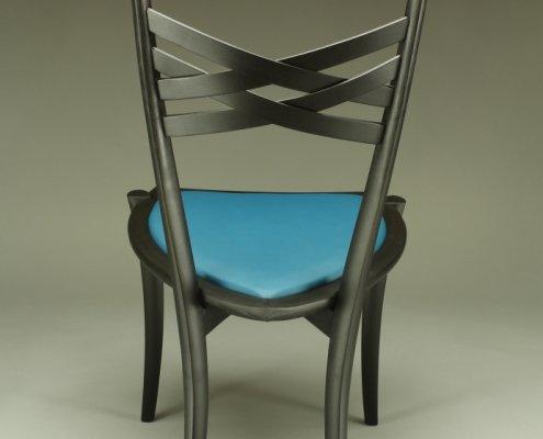 back of custom penelope cruz chair, made of ash wood