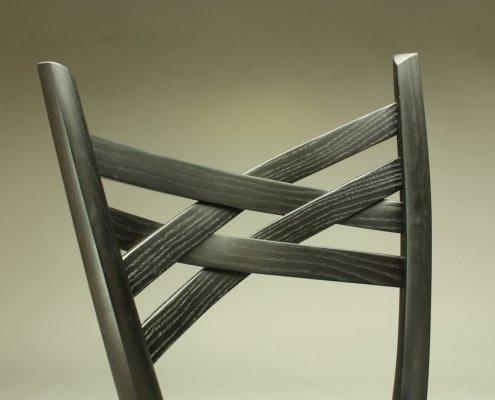 details, back of custom penelope cruz chair, made of ash wood