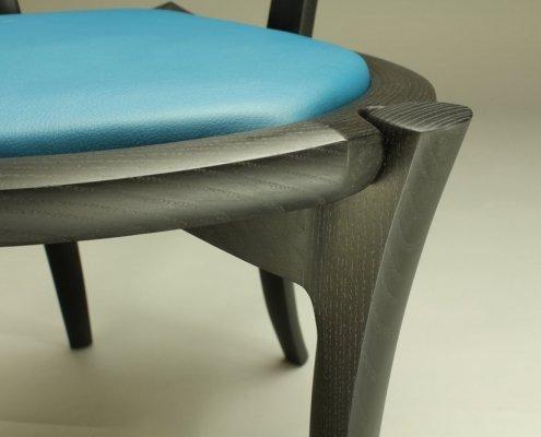 leg, back of custom penelope cruz chair, made of ash wood